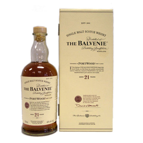 The Balvenie 21 Year Old Portwood Cask Single Malt Scotch Whisky 750ml