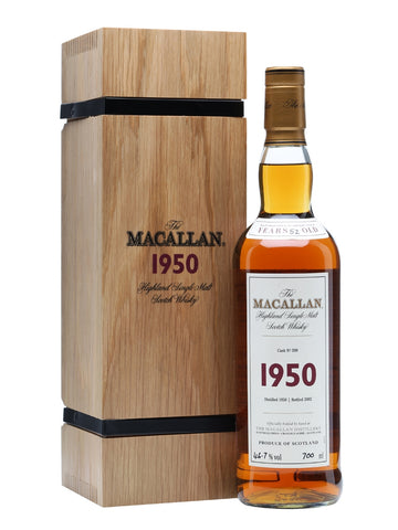 Macallan 1950 - 52 Year Old Fine & Rare Cask #600 Single Malt Scotch Whisky 750ml