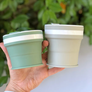 SAGE - (SMALL, Holds 270mls) Collapsible Silicon Coffee Cup