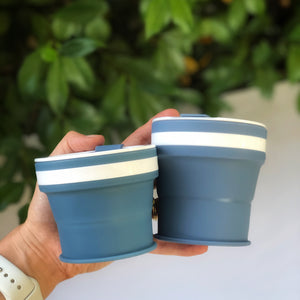 DENIM - Original (SMALL, Holds 270mls) Collapsible Silicon Coffee Cup