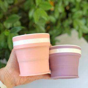 LILAC - Original (SMALL, Holds 270mls) Collapsible Silicon Coffee Cup