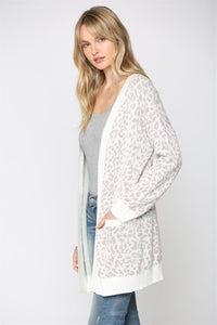 FATE Leopard Knitted Cardigan