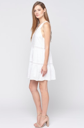 MAVEN WEST Sleeveless Lace Inset Dress