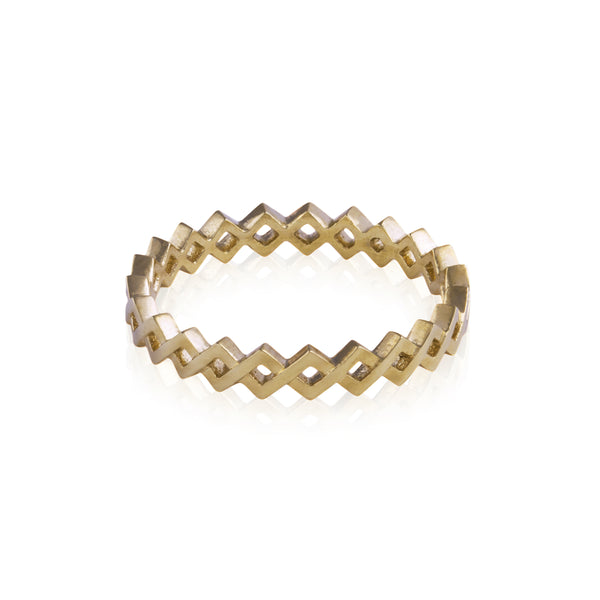 18ct Gold Woven Infinity Ring