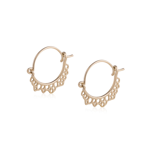 Flux Edge Hoop Earrings