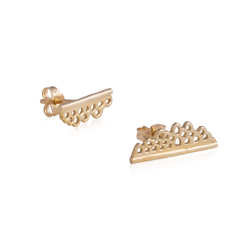 Flux Edge Stud Earrings
