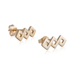 Ternary Woven Square Earrings