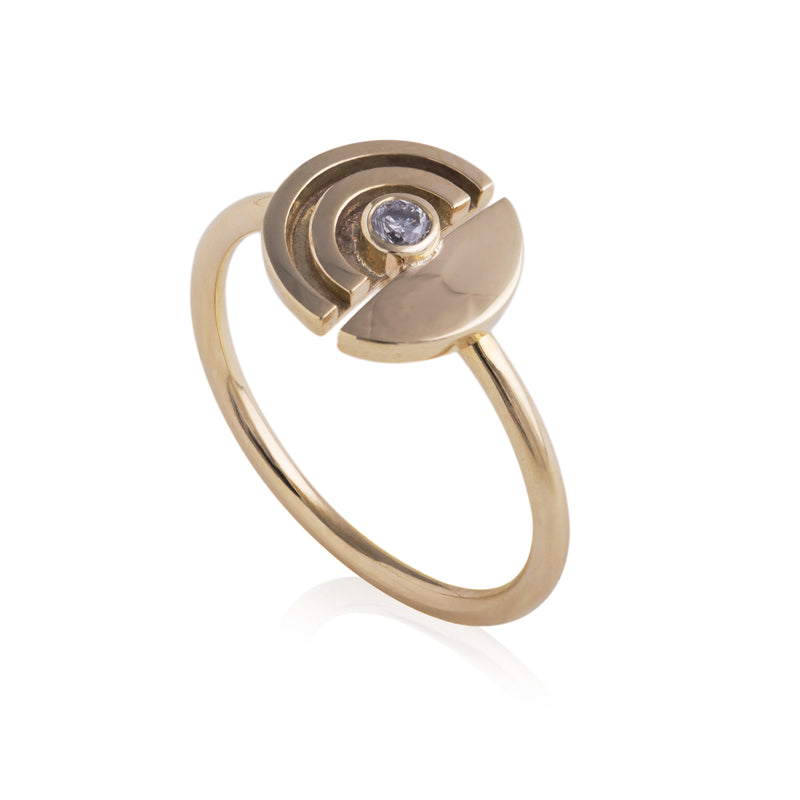 Grey Diamond Annulus Ring