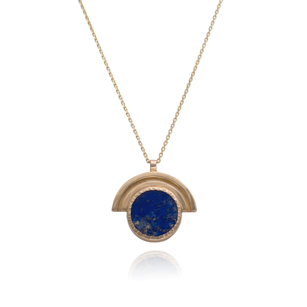 Linea Arc Necklace set with Lapis Lazuli