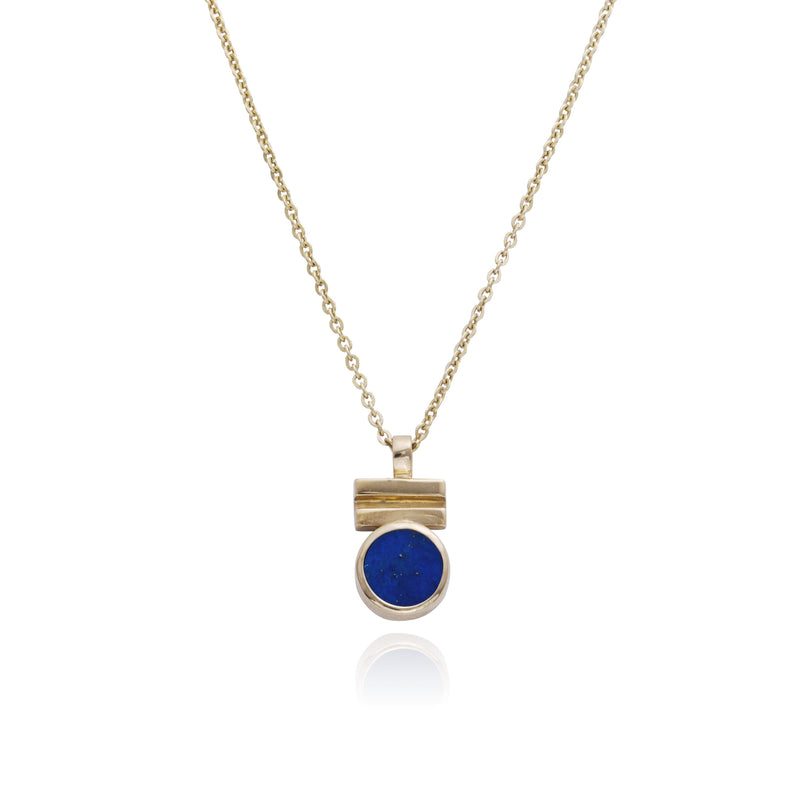 Scintilla Necklace set with Lapis Lazuli