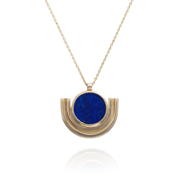 Linea Cradle Necklace set with Lapis Lazuli