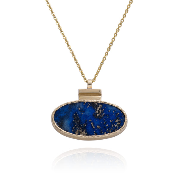 Lapis Ellipse Necklace