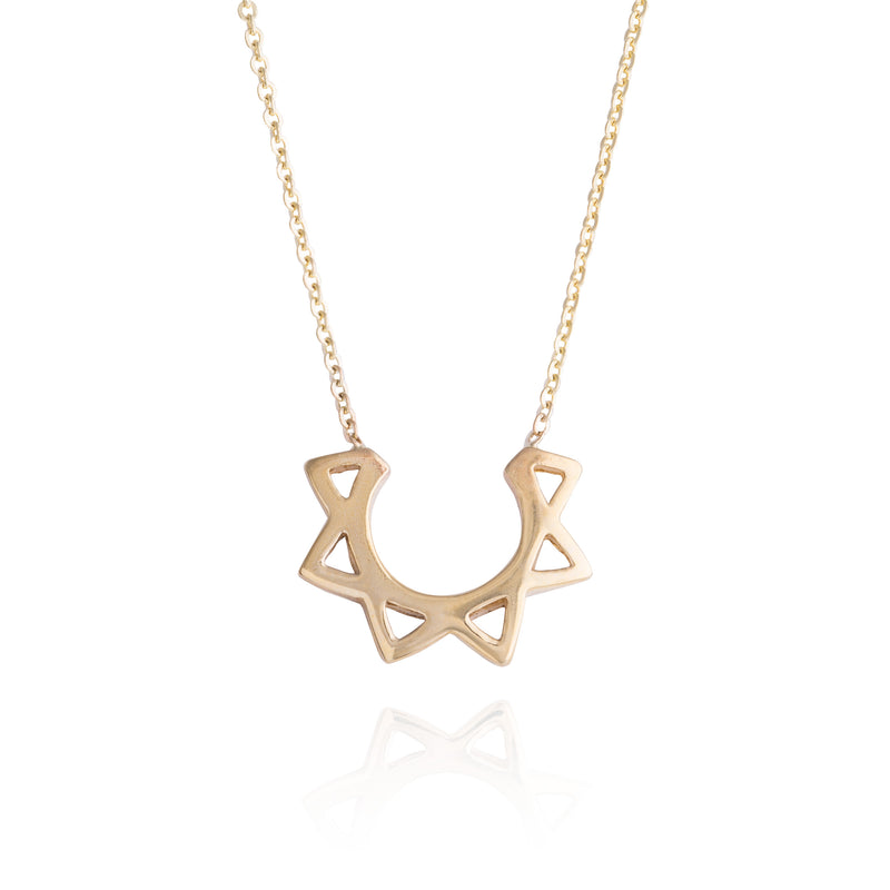 Geometric Solar Necklace
