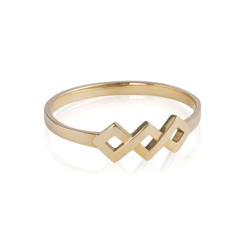Woven Ternary Ring