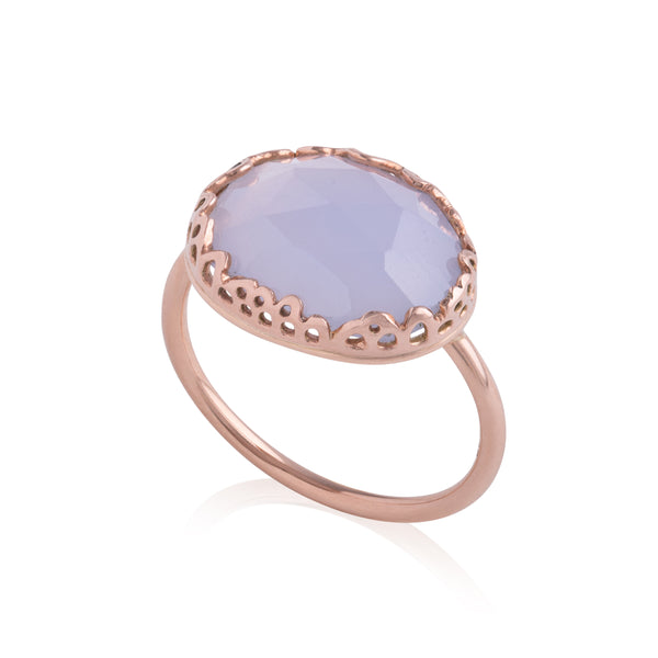 Flux Edge Chalcedony Ring