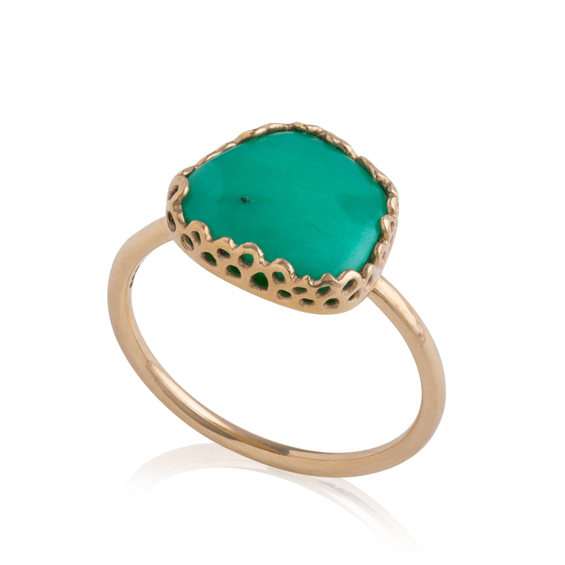 Flux Edge Chrysophase Ring