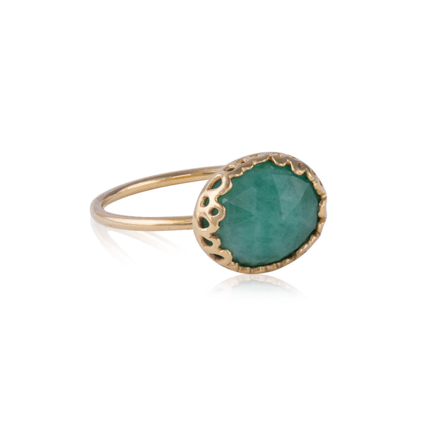 Flux Edge Emerald Ring