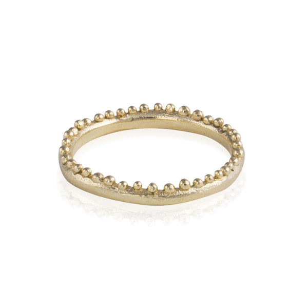 Grain Edge Ring in Gold
