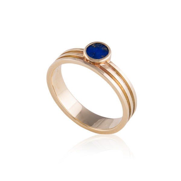 Linea Ring set with Lapis Lazuli