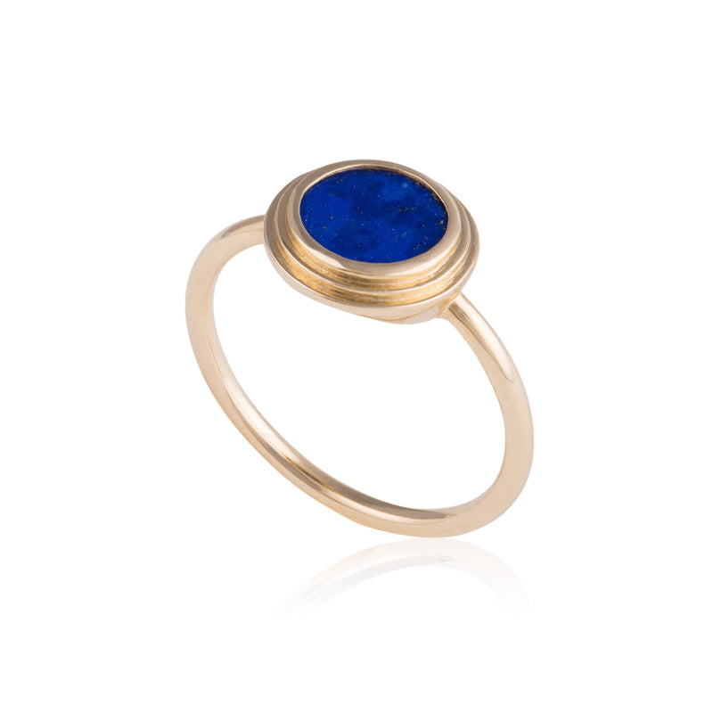 Ascent Ring set with Lapis Lazuli