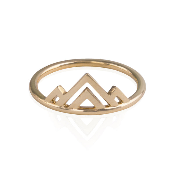 Mountain Ring in Gold