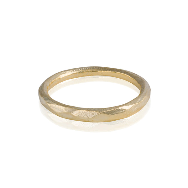 Faceted Hewn Ring