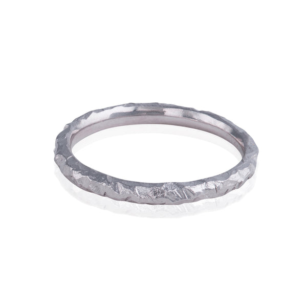 Slim Jagged Textured Ring