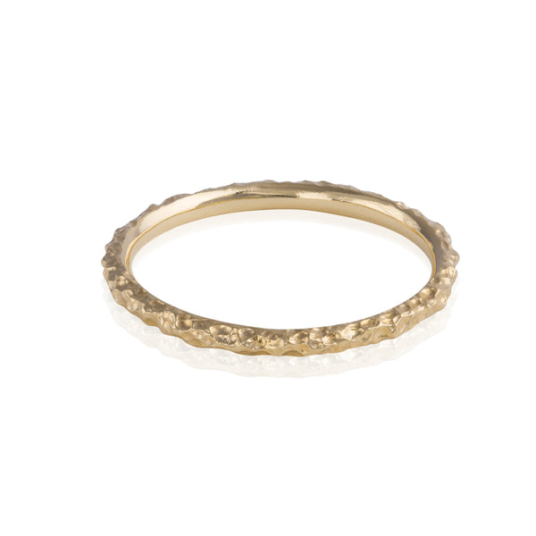Fine Dappled Gold Ring