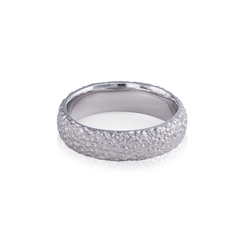 Wide Mottled Texture Ring
