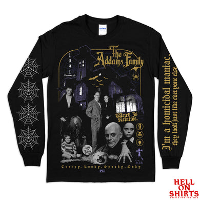 Addams Family Print Long Sleeve