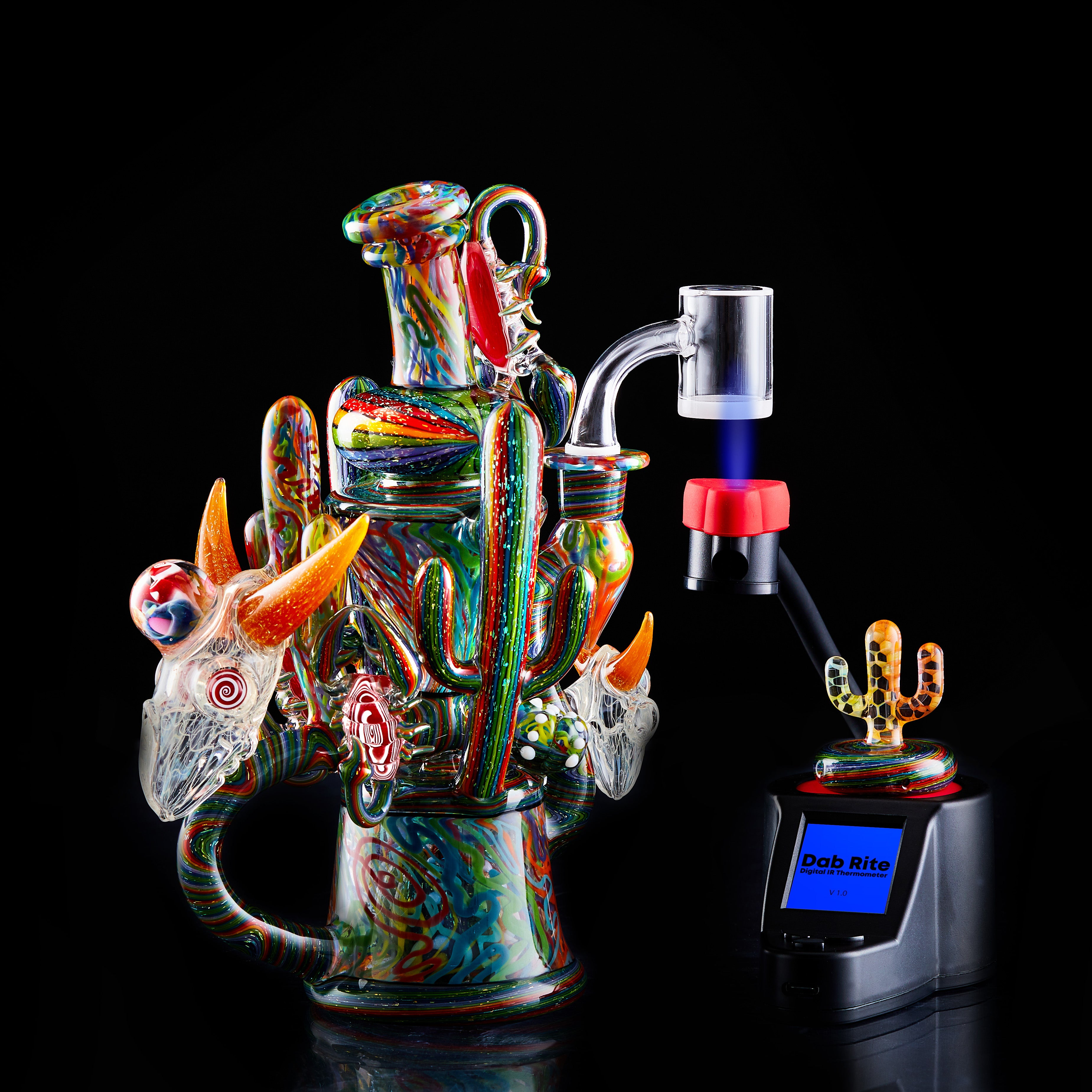 Dab Rite IR thermometer is the perfect dab thermometer for heady glass set ups