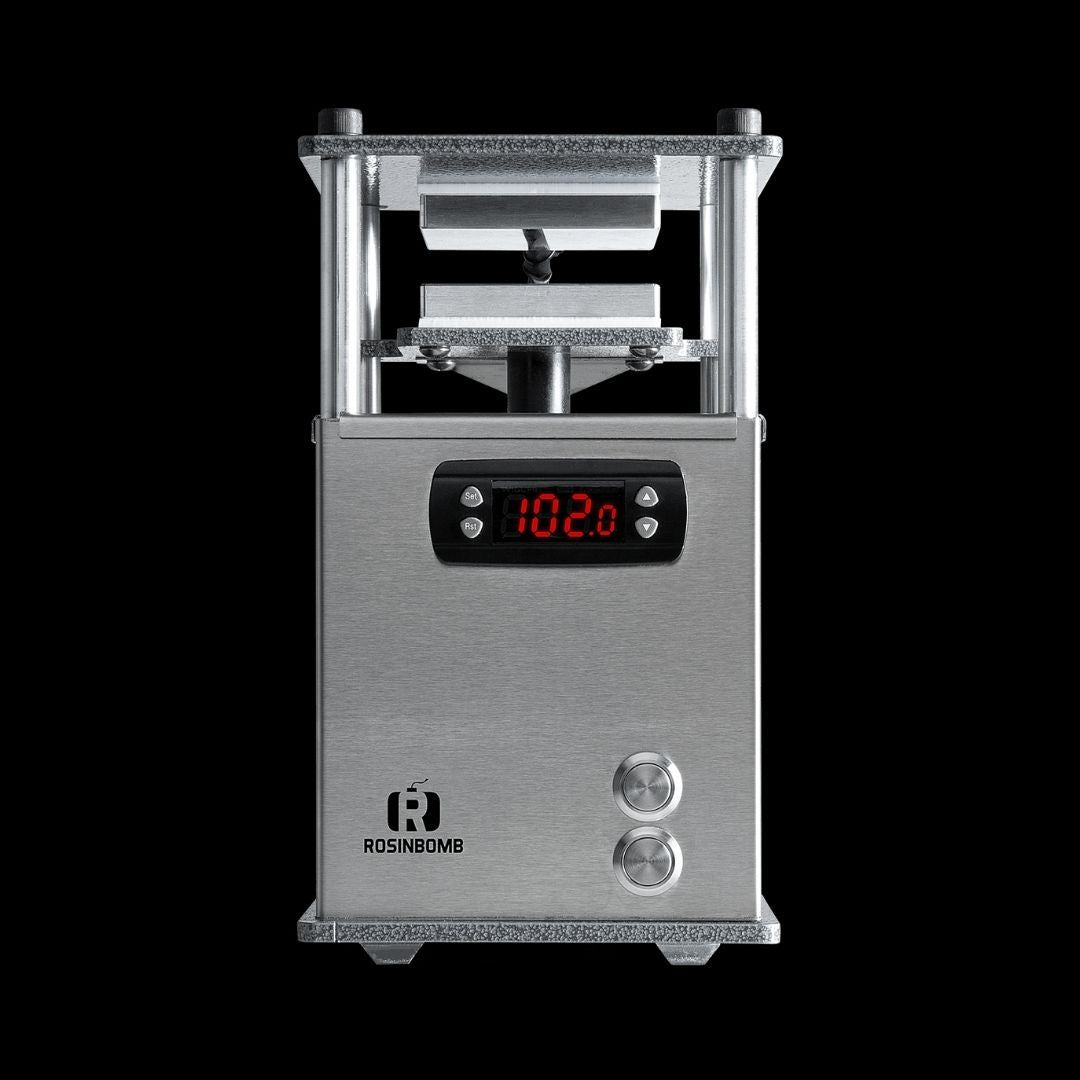 rosinbomb rocket rosin press allows you to preserve flavor by pressing your own wax