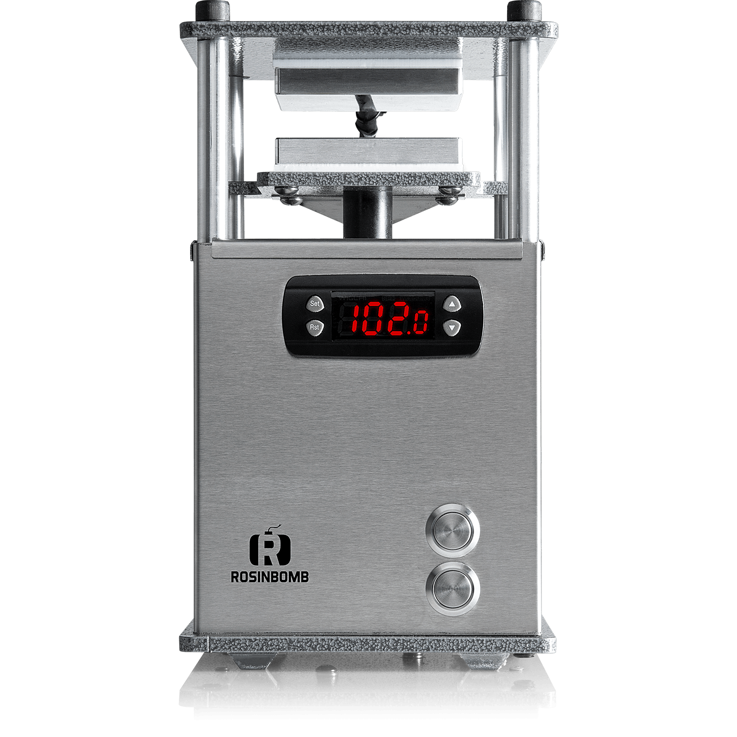 rosinbomb rocket portable rosin press fits right in your backpack