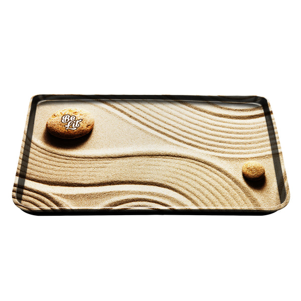 Be Lit Large Rolling Tray, Sand Garden