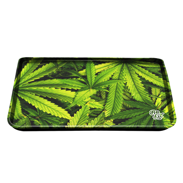 Be Lit Large Rolling Tray, Leafy