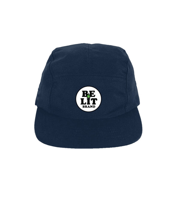 Be Lit 5-Panel Hat, Navy