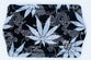 Be Lit Travel Rolling Tray, Black Leaves