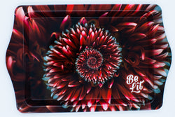 Be Lit Travel Rolling Tray, Red Spiral