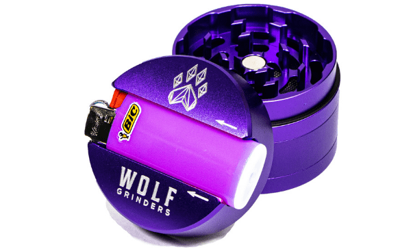 Wolf Bic 4-Piece Herb Grinder - Purple