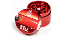 Wolf Bic 4-Piece Herb Grinder - Red