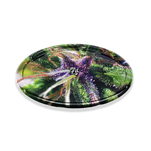 Be Lit Round Rolling Tray, Buds