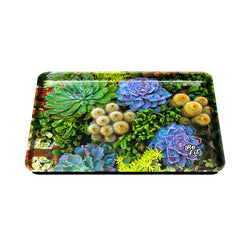 Be Lit Large Rolling Tray, Succulents