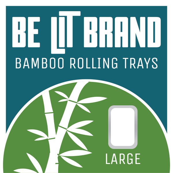 Be Lit Bamboo Rolling Tray, Large