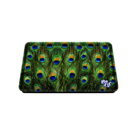 Be Lit Medium Rolling Tray, Peacock