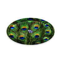 Be Lit Round Rolling Tray, Peacock