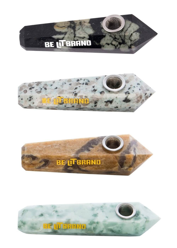 Be Lit Solid Marble Pipes, 4 Pack!