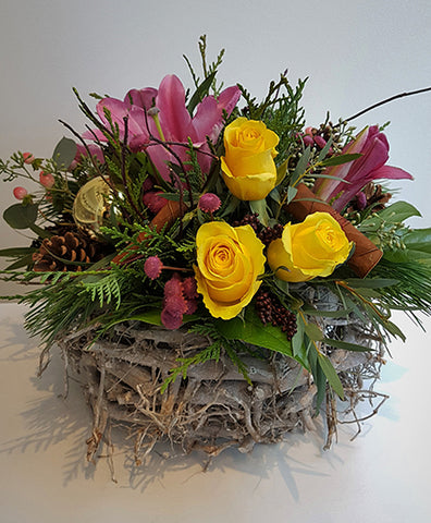 Winter Basket Yellow