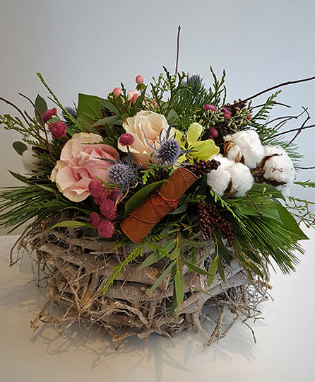 Winter Basket Pink