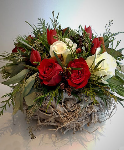 Winter Basket Red