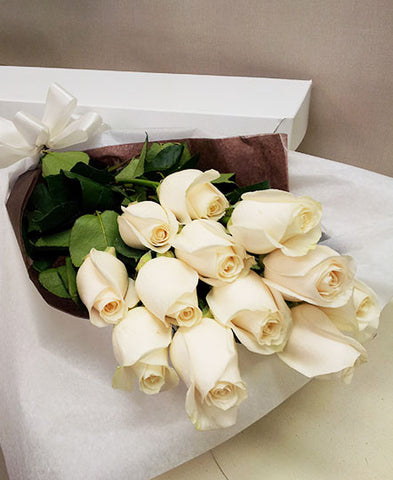 Premium White Rose Box